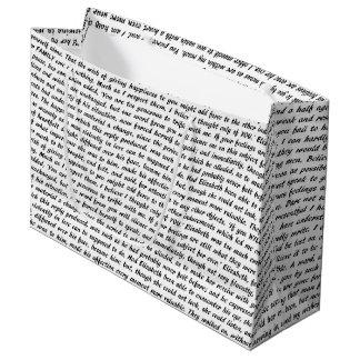 Citas de Jane Austen Bolsa De Regalo Grande