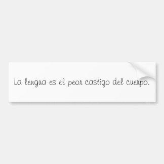 Citas del español pegatina para coche