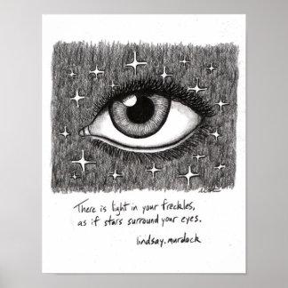 Citas inspiradas del poster del arte de la pared