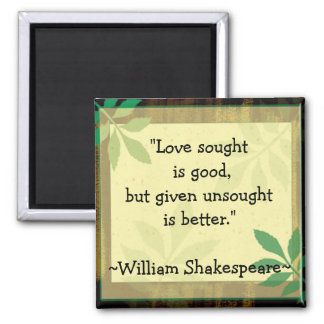 Citas inspiradas Shakespeare Love Imanes