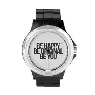 Citas inspiradas y de motivación reloj de mano