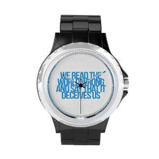 Citas inspiradas y de motivación relojes de pulsera