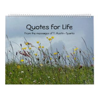 Citas para la opción A del calendario de la vida