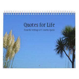Citas para la opción B del calendario de la vida