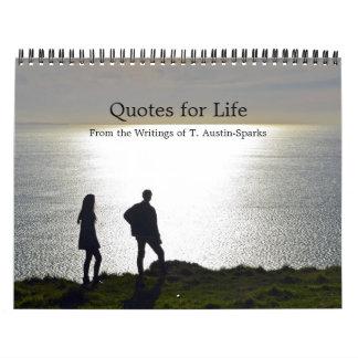 Citas para la opción C del calendario de la vida
