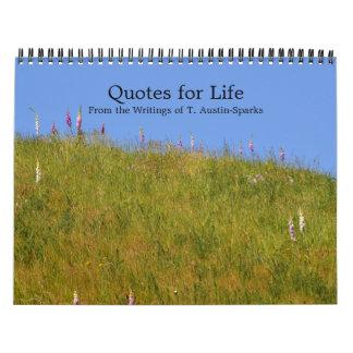 Citas para la opción D del calendario de la vida