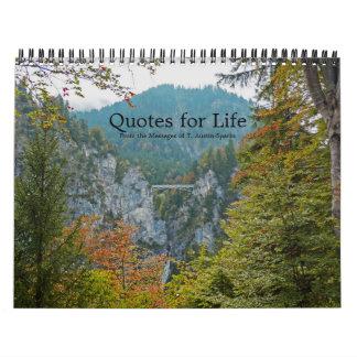 Citas para la opción F del calendario de la vida