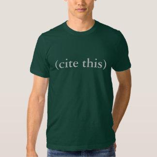 (cite esto) camiseta