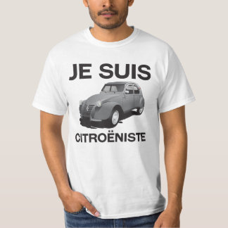 Citroëniste de los suis de Je - Citroën gris Camiseta