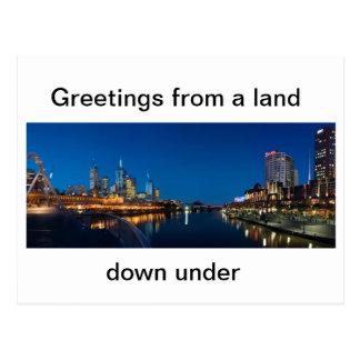 Ciudad australiana de Melbourne de la postal