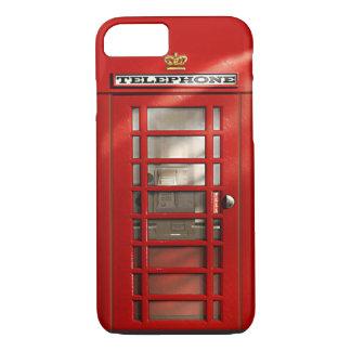 Ciudad británica del iPhone rojo 7 de la cabina de Funda iPhone 7