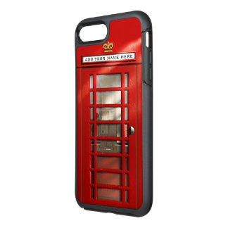 Ciudad británica divertida de la cabina de funda OtterBox symmetry para iPhone 7 plus