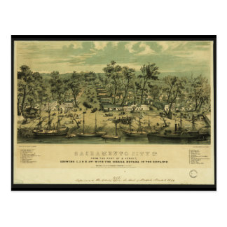 Ciudad California de Sacramento en 1849 por los pá