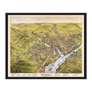 Ciudad de Bangor el condado de Penobscot Maine Lienzo Envuelto Para Galerías