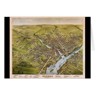 Ciudad de Bangor el condado de Penobscot Maine Tarjeta De Felicitación