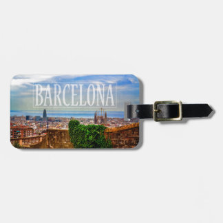Ciudad de Barcelona Etiqueta Para Maletas