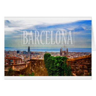 Ciudad de Barcelona Tarjeta De Felicitación