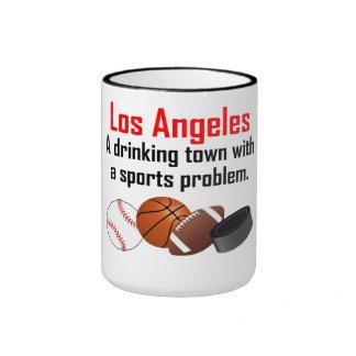 Ciudad de consumición de Los Ángeles A con un Taza De Dos Colores