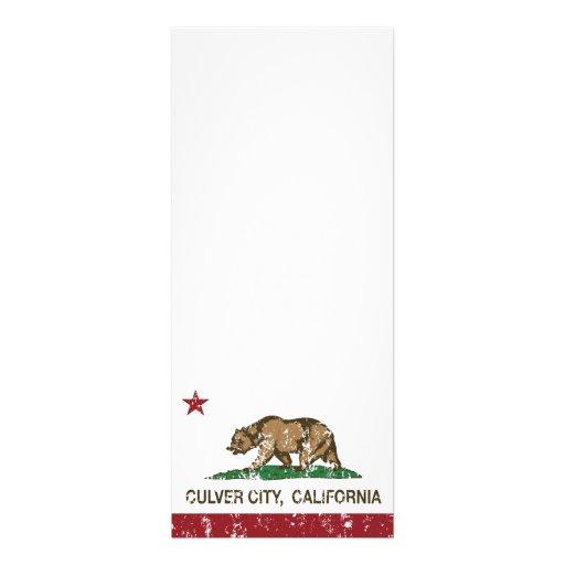 Ciudad de Culver de la bandera del estado de Calif Comunicados Personalizados
