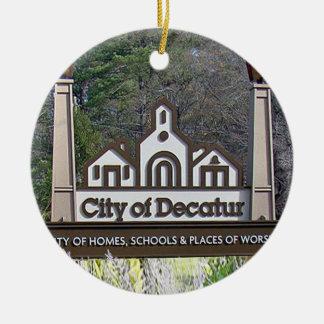 Ciudad de Decatur, Georgia, ornamentos del navidad Adorno Navideño Redondo De Cerámica