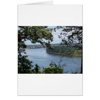 Ciudad de Dubuque, Iowa en el río Misisipi Tarjeta De Felicitación