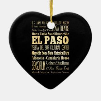 Ciudad de El Paso del arte de la tipografía del Ornamentos De Reyes