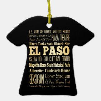 Ciudad de El Paso del arte de la tipografía del es Ornamento Para Arbol De Navidad