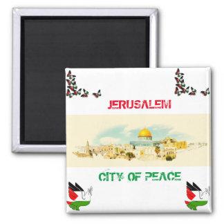 Ciudad de Jerusalén de P [recuerdo del imán del