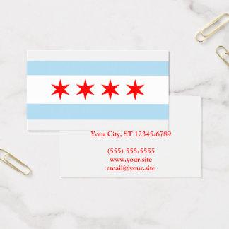 Ciudad de la bandera de Chicago Tarjeta De Visita