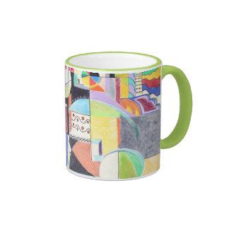 Ciudad de la fábrica taza de dos colores