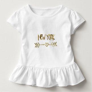 Ciudad de los E.E.U.U. de la tipografía de la Camiseta De Bebé