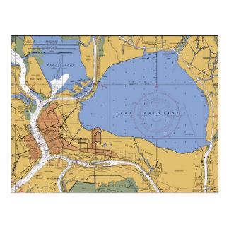 Ciudad de Morgan, postal náutica de la carta de
