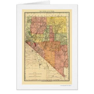 Ciudad de Nevada y mapa 1893 del ferrocarril Tarjetón