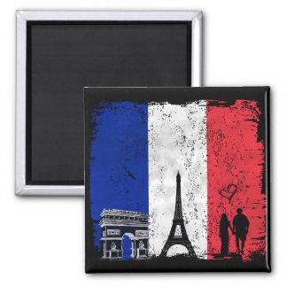 Ciudad de París del amor Imán Cuadrado
