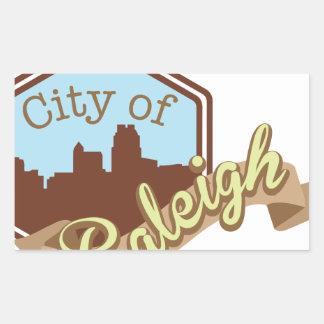 Ciudad de Raleigh Pegatina Rectangular