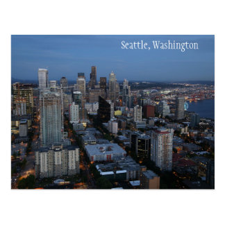 Ciudad de Seattle en la postal de Washington