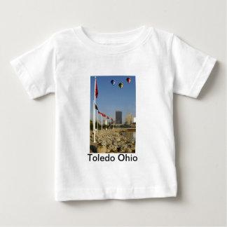 Ciudad de Toledo Ohio Camiseta Para Bebé