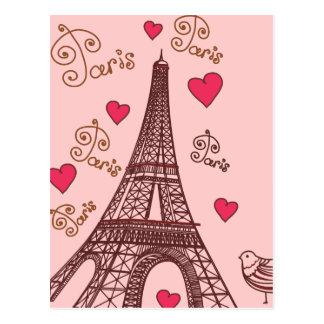 Ciudad del amor París Postales