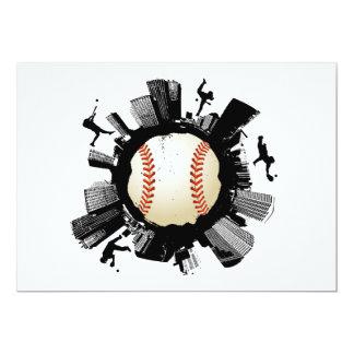 Ciudad del béisbol invitación 12,7 x 17,8 cm