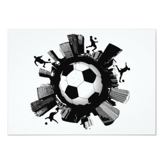 Ciudad del fútbol invitación 12,7 x 17,8 cm