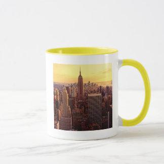 Ciudad del horizonte de Nueva York con el estado Taza