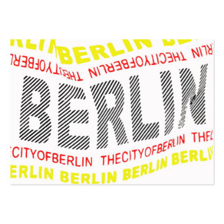 Ciudad del logotipo de Berlín/del recuerdo (1) Tarjetas De Visita Grandes