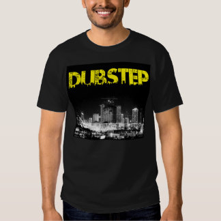 Ciudad del negro de la camiseta de Dubstep