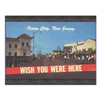 Ciudad del océano, New Jersey, vintage Postal