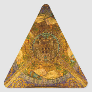 Ciudad del techo de catedral bizantino neo del pegatina triangular