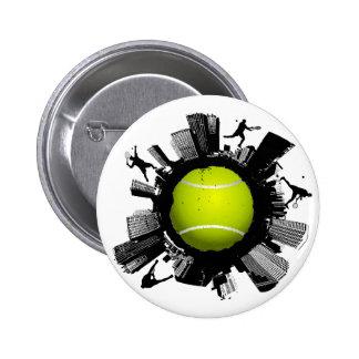 Ciudad del tenis chapa redonda de 5 cm
