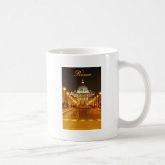 Ciudad del Vaticano, Roma, Italia en la noche Taza De Café