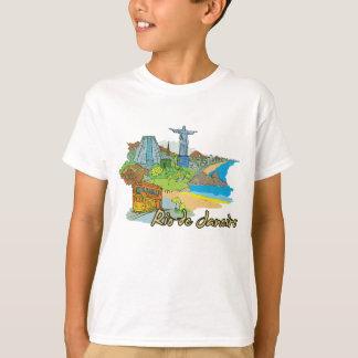 Ciudad famosa de Río de Janeiro, el Brasil Camiseta