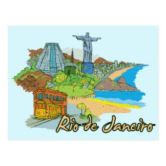Ciudad famosa de Río de Janeiro, el Brasil Postal