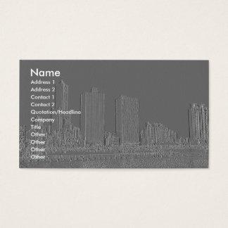 Ciudad grabada en relieve del puerto tarjeta de negocios